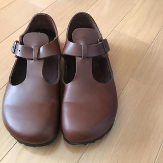 ビルケンシュトック(BIRKENSTOCK)のビルケンシュトック ロンドン 38  ブラウン(ローファー/革靴)