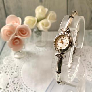 アガット(agete)の【電池交換済み】agete アガット 腕時計 シルバー  0.018ct(腕時計)