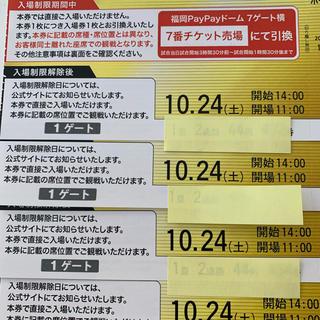 ソフトバンクホークス チケット 2枚(野球)