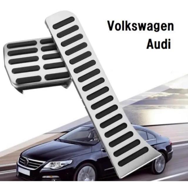 Volkswagen(フォルクスワーゲン)の特価 フォルクスワーゲン アウディ 高品質 アルミペダル 2ピースセット 自動車/バイクの自動車(車内アクセサリ)の商品写真