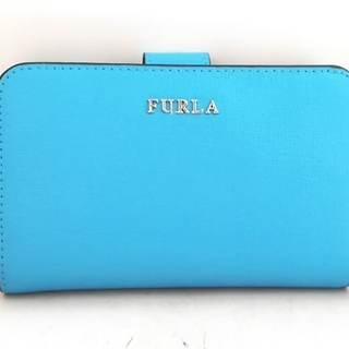 フルラ(Furla)のフルラ 2つ折り財布 ライトブルー レザー(財布)