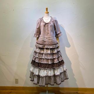 ピンクハウス(PINK HOUSE)のピンクハウス ブラウス&スカートのでセットで数回の着用程度❗️定価8万3600円(セット/コーデ)
