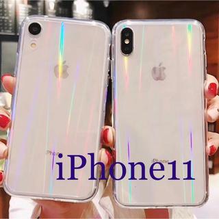 iPhone11 スマホケース クリアケース オーロラでキレイ✳︎
