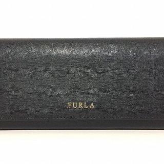 フルラ(Furla)のFURLA(フルラ) 長財布 - 黒 レザー(財布)