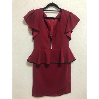JEWELS - 赤 ドレス ミニドレス