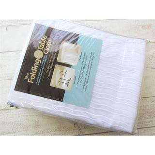 コストコ(コストコ)のコストコ ボックス型テーブルクロス ホワイト/〓ZTL(アウトドアテーブル)