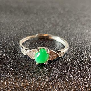 卸値 指輪 本翡翠 緑色 ヒスイ A貨 シルバー 誕生日プレゼント 本物保証26(リング(指輪))