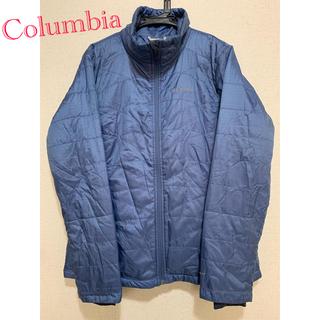 コロンビア(Columbia)のColumbia ダウンジャケット ブルー パフジャケット(ダウンジャケット)
