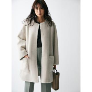ミラオーウェン(Mila Owen)の新品 milaowen ミラオーウェン ノーカラーシャツカーブボアジャケット (ノーカラージャケット)
