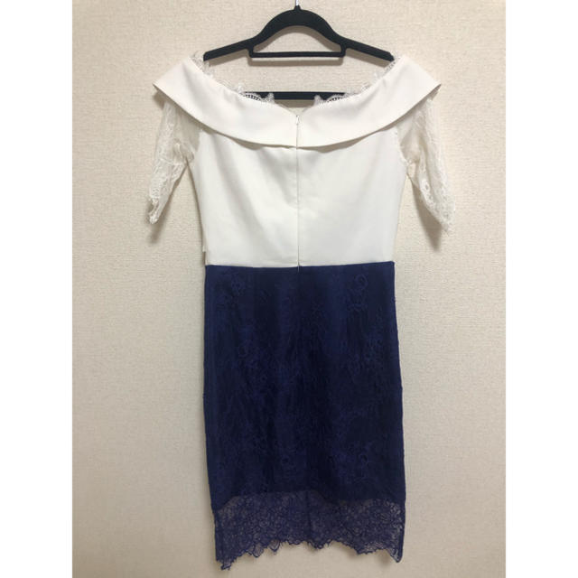 JEWELS(ジュエルズ)のホワイト ブルー Jewels ドレス レディースのフォーマル/ドレス(ミニドレス)の商品写真