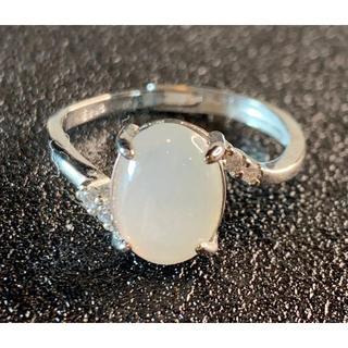 卸値 指輪 本翡翠 透明色 A貨ヒスイ シルバー 誕生日プレゼント 本物保証17(リング(指輪))
