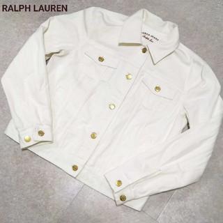 ラルフローレン(Ralph Lauren)の美品 RALPH LAUREN ラルフローレン ホワイトデニム Gジャン(Gジャン/デニムジャケット)