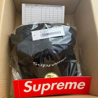 Supreme - World Famous Box Logo New Era® 黒7 1/2