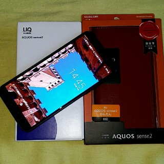 AQUOS - 【SIM解除済 美品】AQUOS sense2 SHV43 UQ mobile