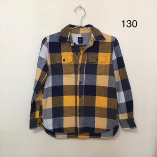 ギャップキッズ(GAP Kids)のGAP★ギャップ★厚手のブロックチェックシャツ M(130) 綿100%(Tシャツ/カットソー)