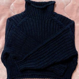 H&M - 《新品》リブニットハイネックセーター チャンキーニット H&M ブラック M