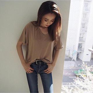 ジェイダ(GYDA)のGYDA ガーゼタッチGネックTシャツ(Tシャツ/カットソー(半袖/袖なし))