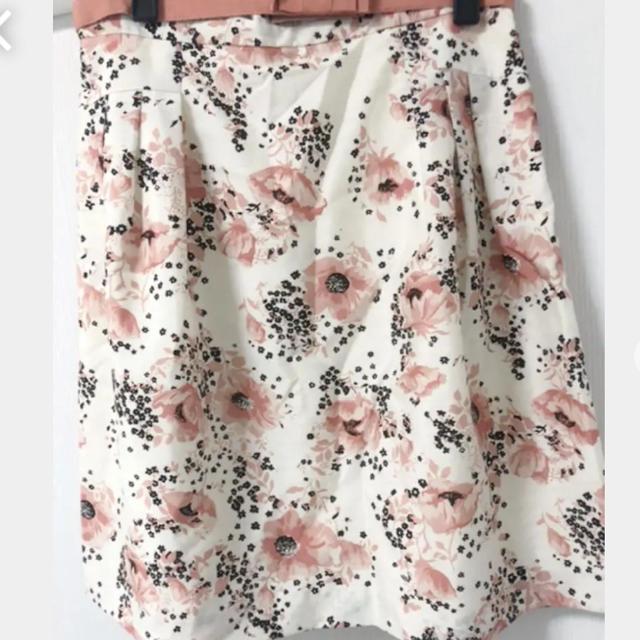 Debut de Fiore(デビュードフィオレ)のデビュードフィオーレバイレッセパッセ 花柄スカート レディースのスカート(ひざ丈スカート)の商品写真