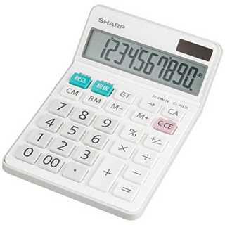 ホワイトシャープ 電卓 シャープ ナイスサイズタイプ 10桁 EL-N431-X