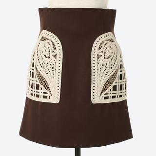 mame - mame 刺繍 スカート