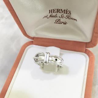 エルメス(Hermes)の正規品 エルメス 指輪 サンチュール シルバー ベルト 銀 SV925 リング4(リング(指輪))