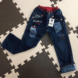 DOUBLE.B - ミキハウス ダブルB リメイク風パッチワークのジーンズ