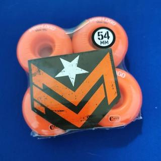 パウエル(POWELL)のMINI-LOGO スケボーウィール 54mm スケートボード Ccutオレンジ(スケートボード)