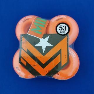 パウエル(POWELL)のMINI-LOGO スケボーウィール 53mm スケートボード Ccutオレンジ(スケートボード)