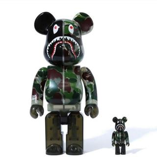 MEDICOM TOY - BE@RBRICK CAMO SHARK 400% GREEN 新品
