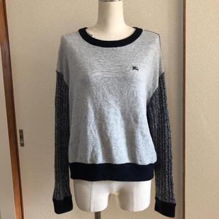 バーバリーブルーレーベル(BURBERRY BLUE LABEL)のバーバリーブルーレーベル絹.アルパカ混セーター(ニット/セーター)