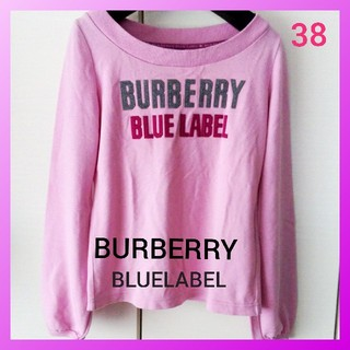 バーバリーブルーレーベル(BURBERRY BLUE LABEL)のBURBERRY バーバリー ブルーレーベル スエット トレーナー 長袖 M(トレーナー/スウェット)