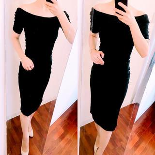 エイチアンドエム(H&M)のH&M 膝丈 ワンピース ドレス パーティー オフショルダー タイト セクシー(ミディアムドレス)
