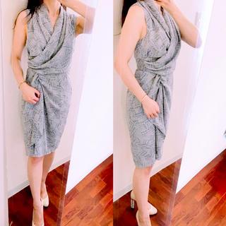 エイチアンドエム(H&M)のH&M 膝丈 ワンピース ドレス パーティー カシュクール  女優ワンピ(ひざ丈ワンピース)