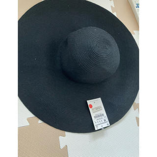 エイチアンドエム(H&M)のH&M  新品未使用タグ付きブラック ハット 帽子(ハット)