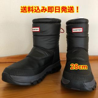 ハンター(HUNTER)のHUNTER ハンター メンズ 28cm スノーブーツ ブラック(ブーツ)