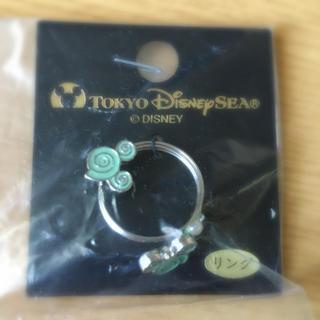 ディズニー(Disney)の【新品】ミッキーマウス貝殻リング パステルグリーン 限定(リング(指輪))