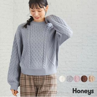 ハニーズ(HONEYS)のHoneys C・O・L・Z・A ケーブル編プルオーバー お値下げ✖︎(ニット/セーター)