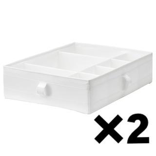 イケア(IKEA)のSKUBB スクッブ 収納ケース 仕切り付き 2個セット 送料込み(ケース/ボックス)
