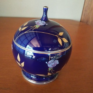 コウランシャ(香蘭社)の香蘭社 新品未使用 ボンボニエール バラ 瑠璃(食器)