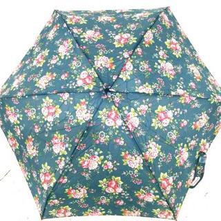 キャスキッドソン(Cath Kidston)のキャスキッドソン 折りたたみ傘美品  花柄(傘)