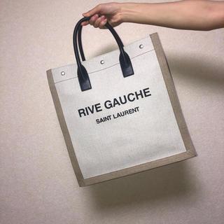"""サンローラン(Saint Laurent)のN/S トートバッグ """"リヴ・ゴーシュ""""(プリントキャンバス&レザー)(トートバッグ)"""