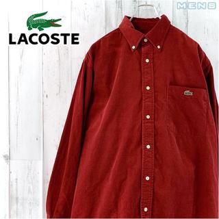 LACOSTE - LACOSTE コーデュロイボタンダウンワンポイントロゴ刺繍入り長袖シャツ 4