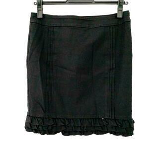 グレースコンチネンタル(GRACE CONTINENTAL)のダイアグラム ミニスカート サイズ38 M 黒(ミニスカート)