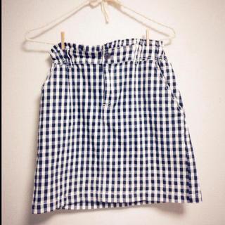 レイカズン(RayCassin)のウエストゴム チェックタイトスカート(ひざ丈スカート)