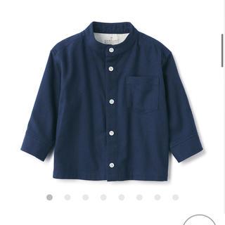 ムジルシリョウヒン(MUJI (無印良品))の無印 インド綿 フランネルスタンドカラーシャツ(シャツ/カットソー)