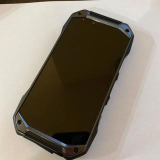 キョウセラ(京セラ)のau TORQUE G04 KYV46 Black SIMロック解除済(スマートフォン本体)