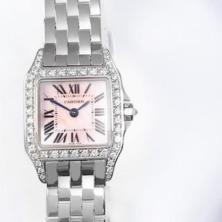 Cartier - 【保証書付】カルティエ サントスドゥモワゼル シェル ダイヤ レディース 時計