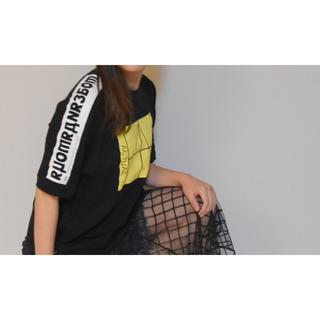 ローズバッド(ROSE BUD)のローズバット ワンピース ブラック(Tシャツ(半袖/袖なし))