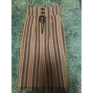 マイストラーダ(Mystrada)のマイストラーダ 裾フリンジタイトスカート(ロングスカート)