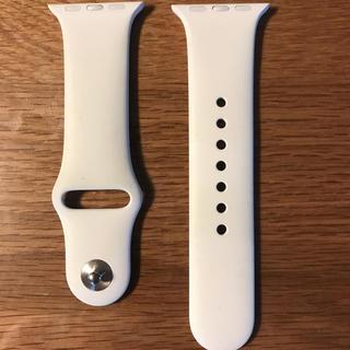 アップルウォッチ(Apple Watch)のApple Watch純正スポーツバンド38/40mm(ホワイト)(その他)